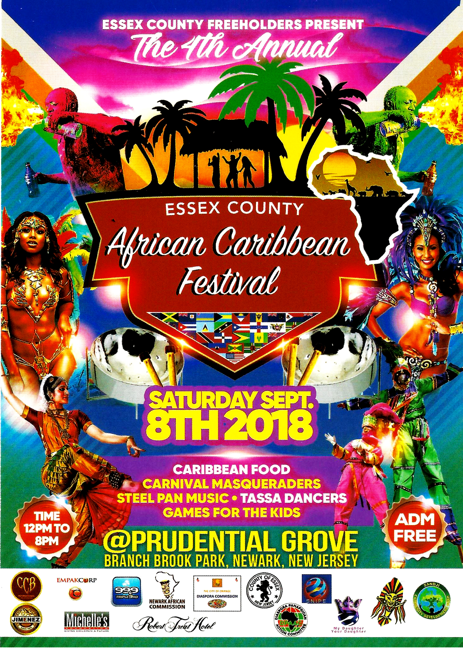 4th Annual Essex County African Caribbean Festival Back