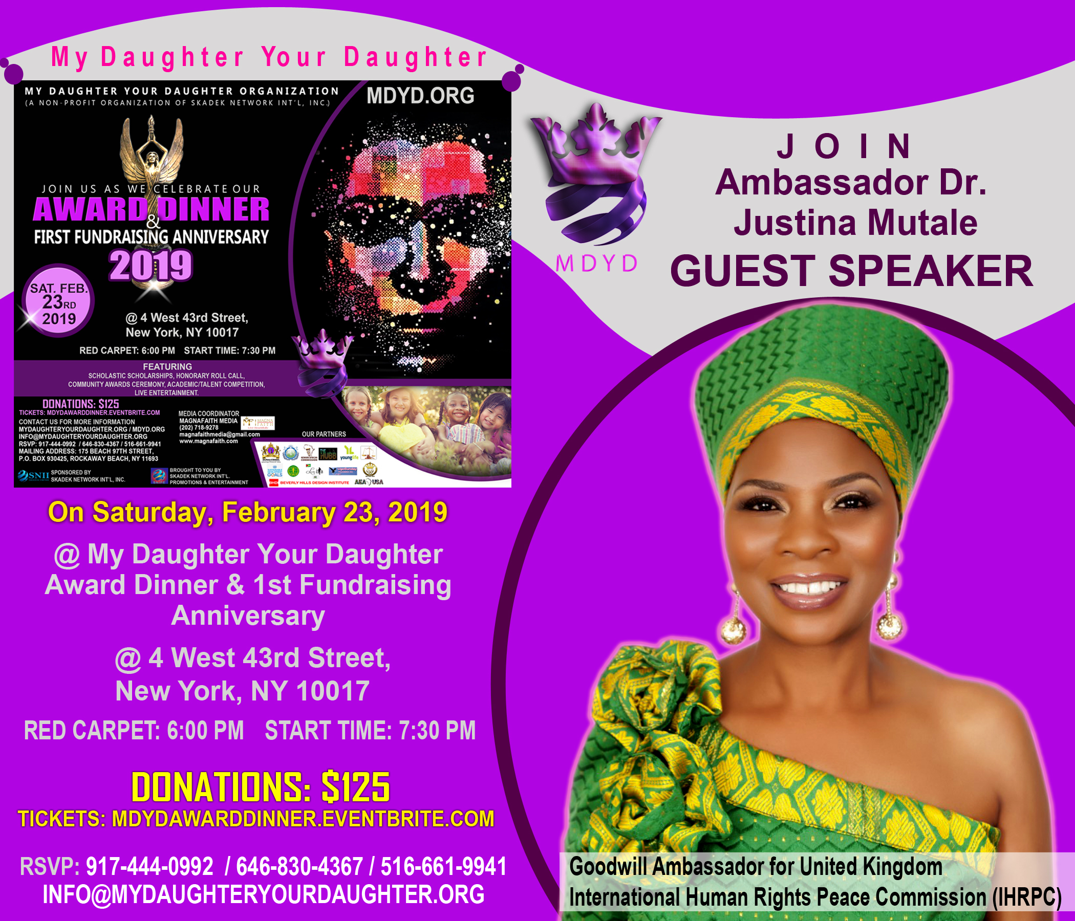 MDYD Promo Card - Amb. Dr. Justina Mutale